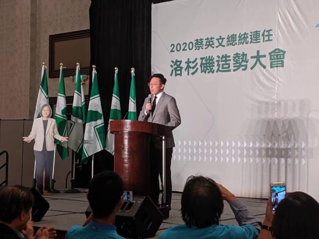 林飛帆表示,台灣人要「強化體質」,才不會被對岸牽著走。(記者蕭永群/攝影)