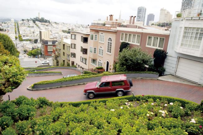 加州州長紐森否決舊金山九曲花街收費法案。Getty Images