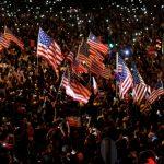 禁蒙面後首場集會 逾13萬港人促美通過香港人權法案