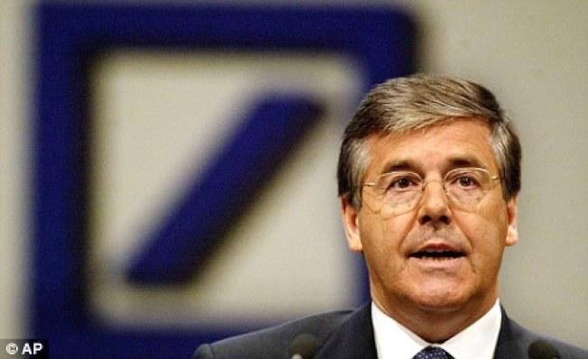 前德國的德意志銀行總裁阿克曼,一手策畫打進中國金融市場。(美聯社)