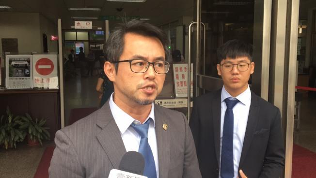 王景玉的辯護律師黃致豪。記者林孟潔/攝影