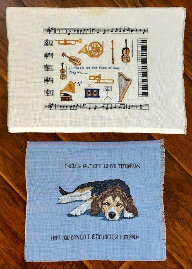 十幾年前,作者做的十字繡。