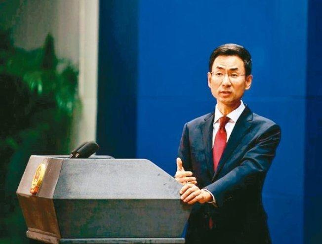 中國外交部發言人耿爽,證實中方將加快採購美國農產品。圖/取自中國外交部官網
