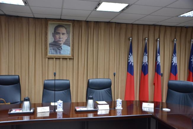 行政院大陸委員會會議室。(記者丁曙/攝影)