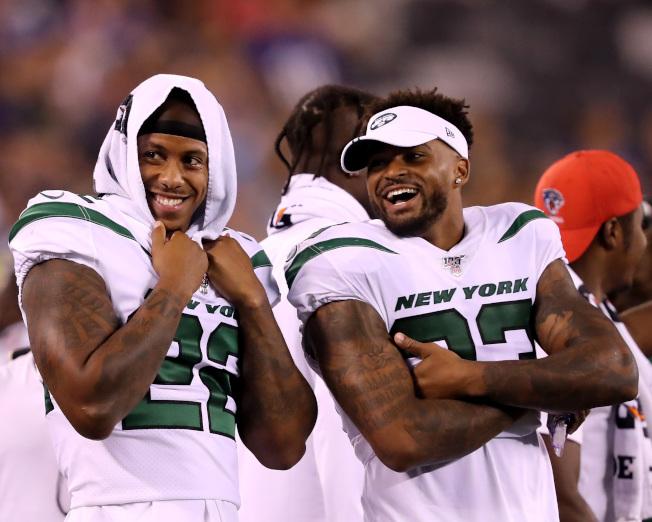 噴射機隊亞當斯(右)是NFL最佳安全衛之一。(Getty Images)