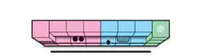 在最小的空間裡,如果不能實現三角,只能將所有區域沿著牆邊擺成一排,那麼就是單線廚房。(取自宜家官網)