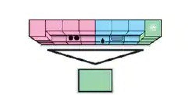 如果在單線以外增加一個廚房中島,便可以形成三角。(取自宜家官網)