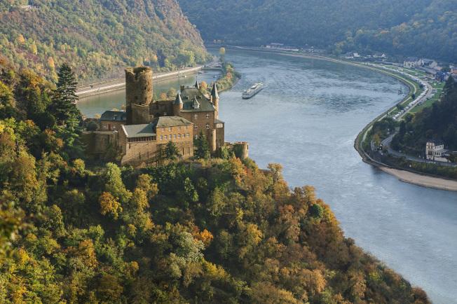 萊茵峽谷德國卡茲城堡