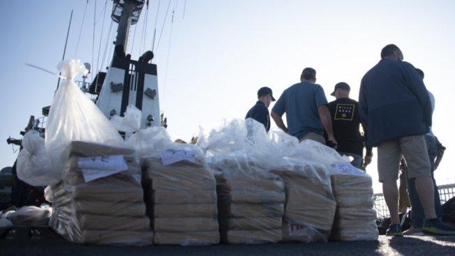 海岸防衛隊緝私船返航聖地牙哥,又一次滿載而歸。(海岸防衛隊提供)