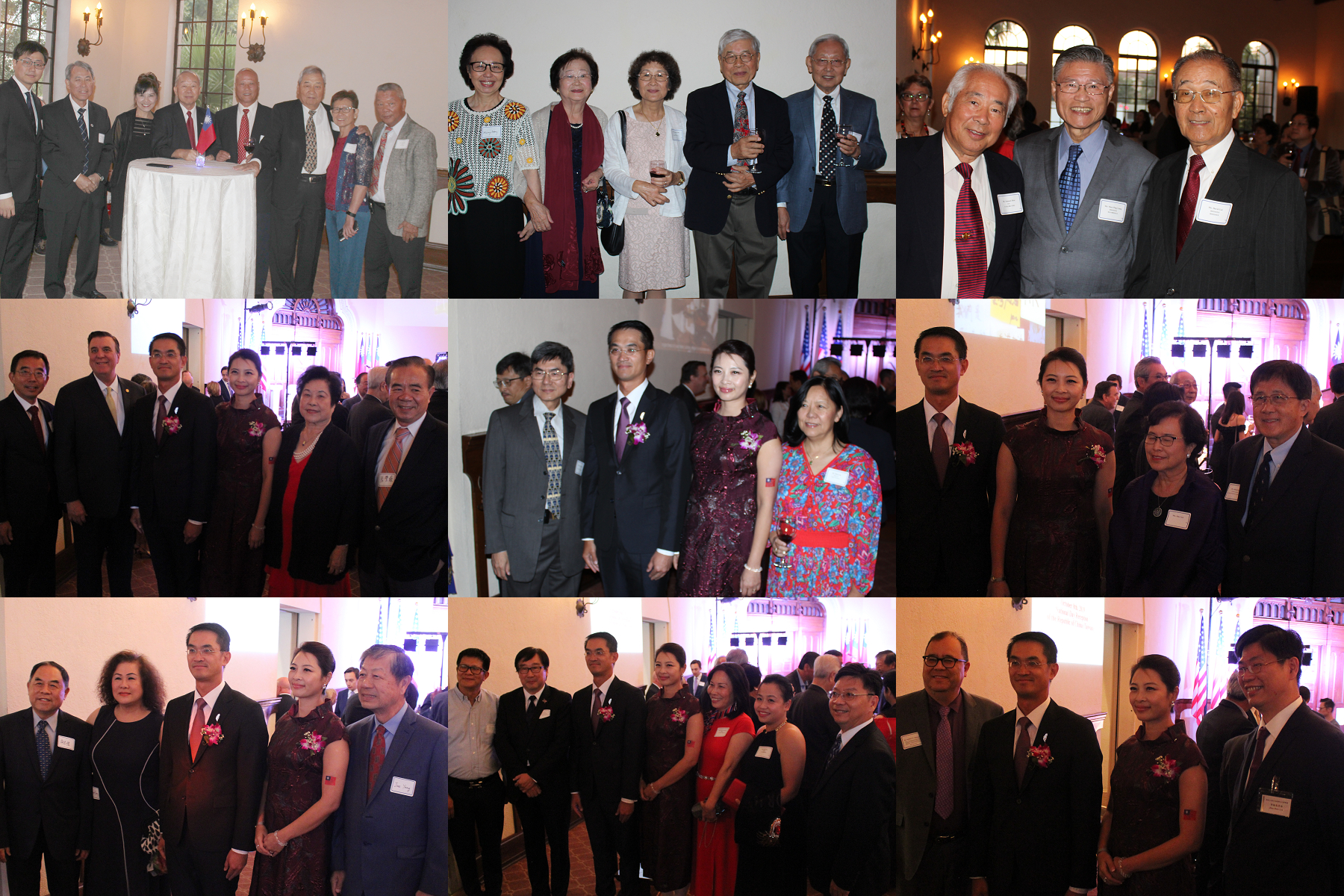 工商學界及社團僑領出席酒會。