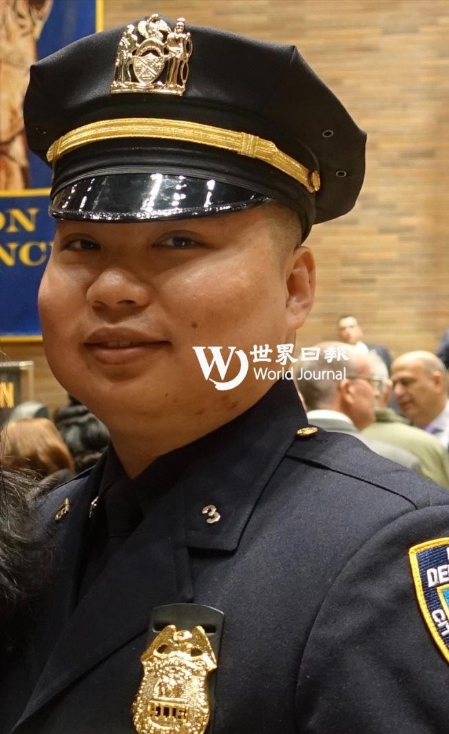 李林鴻在去年晉升為警佐。(本報檔案照,記者金春香╱攝影)