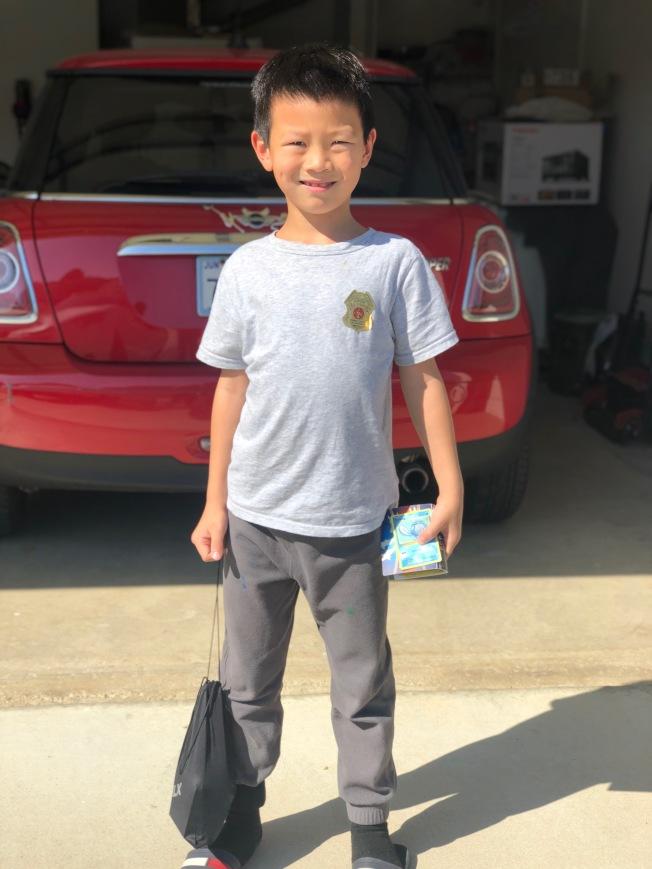 七歲華裔男孩王雍懿。(徐女士提供)