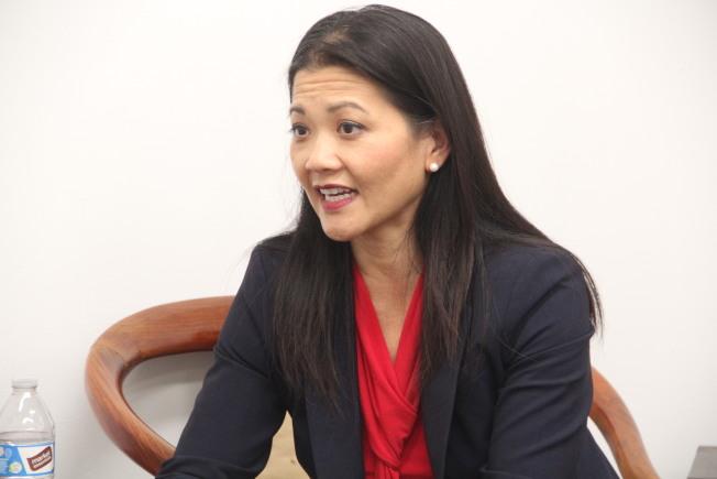 湯曉慧是本次地檢長選舉中的唯一亞裔代表。(記者李晗 / 攝影)