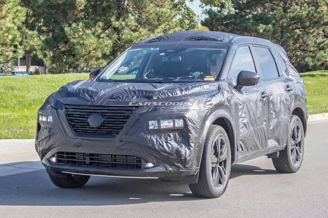 新世代Nissan Rogue/X-Trail偽裝測試車。圖/摘自Carscoops