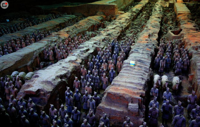 陝西省文物局文物處官員澄清表示,在兵馬俑附近蓋五星級酒店,肯定不會是在保護區裡面。圖/西安旅遊網