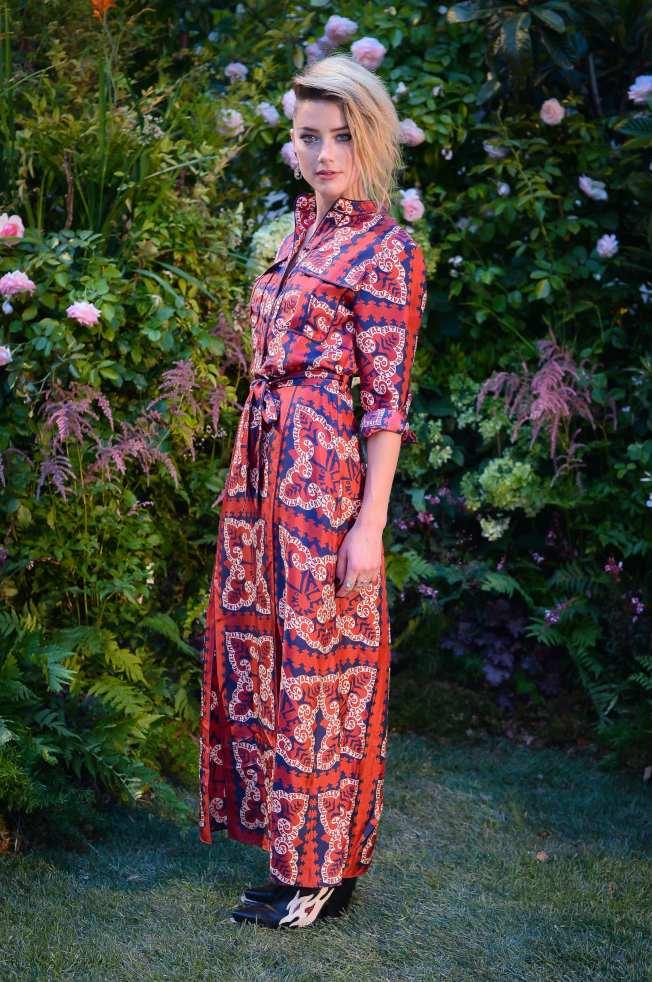 「梅拉」安珀赫德是最美女人榜單中第三名。圖/Valentino提供
