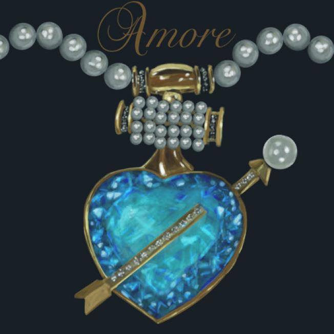 陸乃昂設計的Amore珍珠項鍊飾物。(陸乃昂提供)