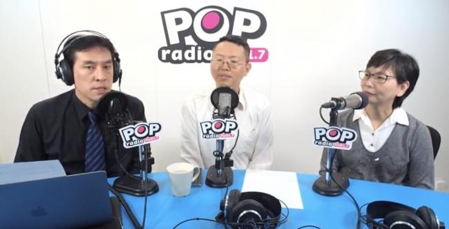 台北市府顧問蔡壁如18日和民眾黨徵召的北市立委參選人徐立信,接受「POP撞新聞」主持人黃暐瀚專訪。(取材自「POP撞新聞」)