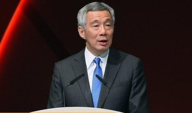 新加坡總理李顯龍認為香港示威者提出「五大訴求」,只是為了令港府倒台。(Getty Images)