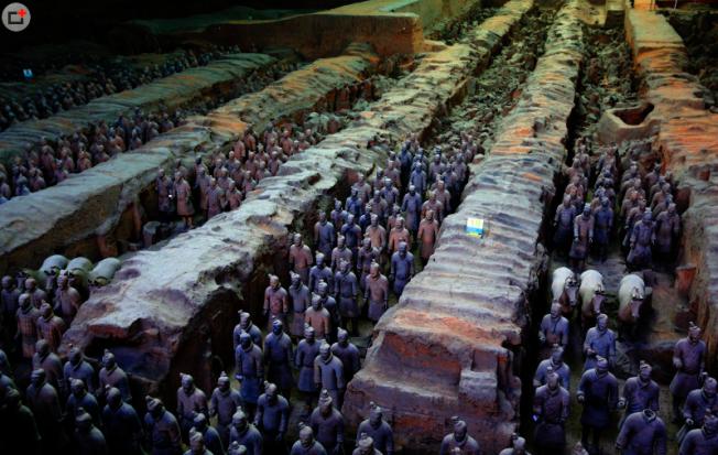 陝西省文物局文物處官員澄清表示,在兵馬俑附近蓋五星級酒店,肯定不會是在保護區裡面。(取材自西安旅遊網)