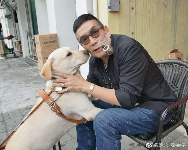 劉永早前拍了電影《小Q》,希望在香港有更多工作機會。(取材自微博)