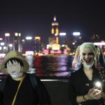 抗議禁蒙面法 18區港人戴面具築人鏈