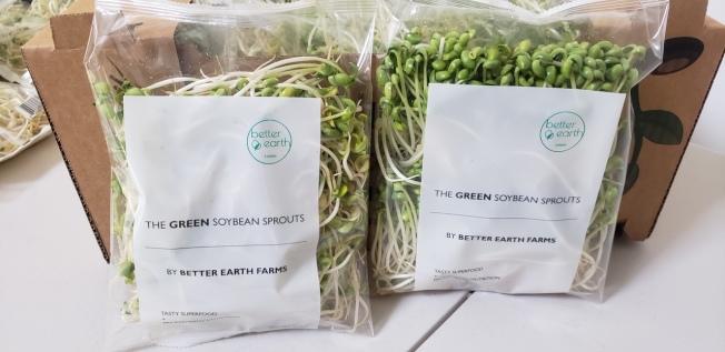 百分之百純水養殖的翡翠豆芽,不僅營養好吃,常食更有健腦抗疲勞之神效。