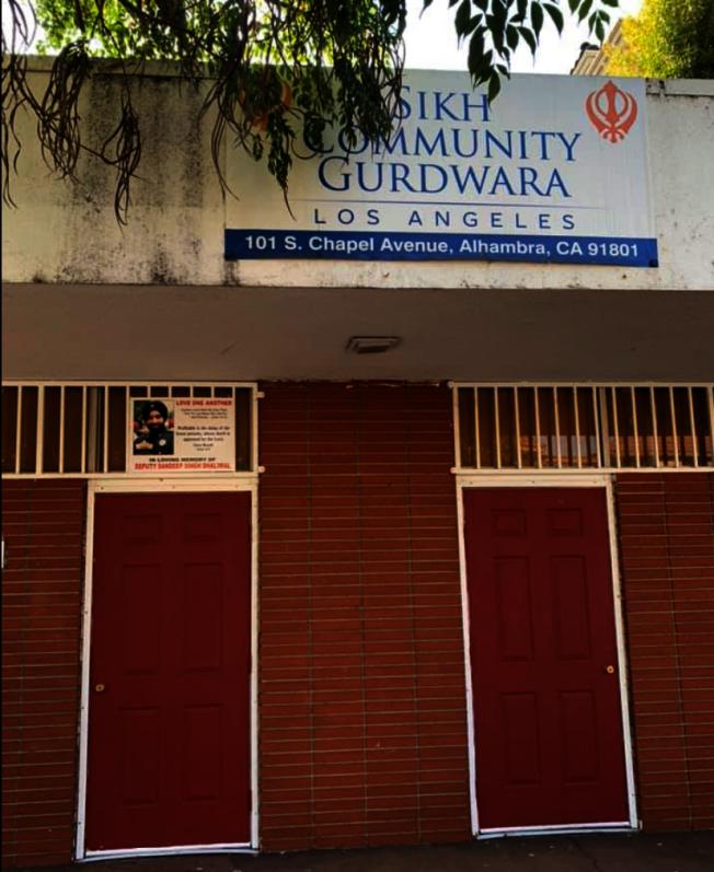 新建案如果開建,阿市Sikh教堂勢必需要移除。圖為阿市Sikh教堂。(記者陳開/攝影)