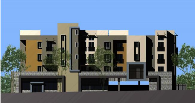 101-107 South Chapel大道的住商兩用新建案效果圖。(阿罕布拉市政府提供)