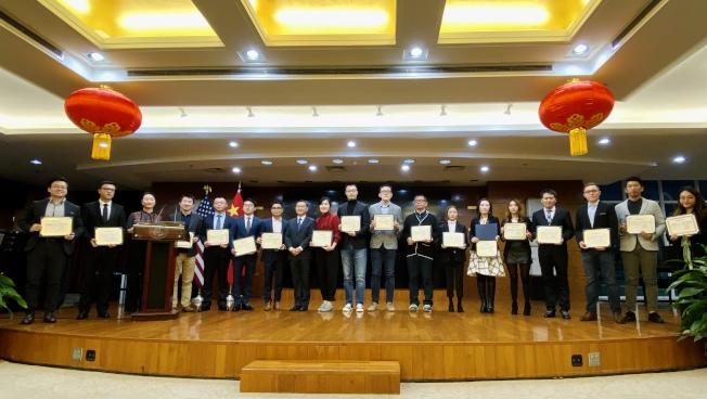 40位創業創新獲獎留學人員。(記者鄭怡嫣 / 攝影)