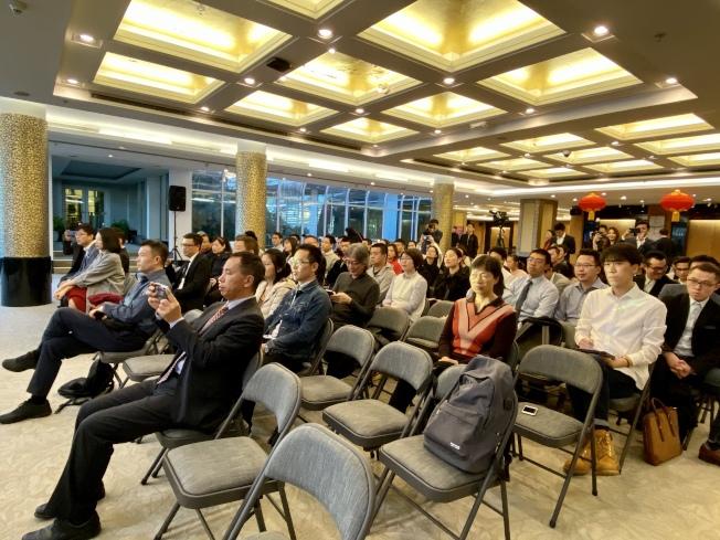 第14屆「春暉杯」留學生創新創業大賽在中領館舉行。(記者鄭怡嫣 / 攝影)