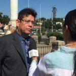 移民聯盟發聲 美墨戰爭紀念碑前遊行