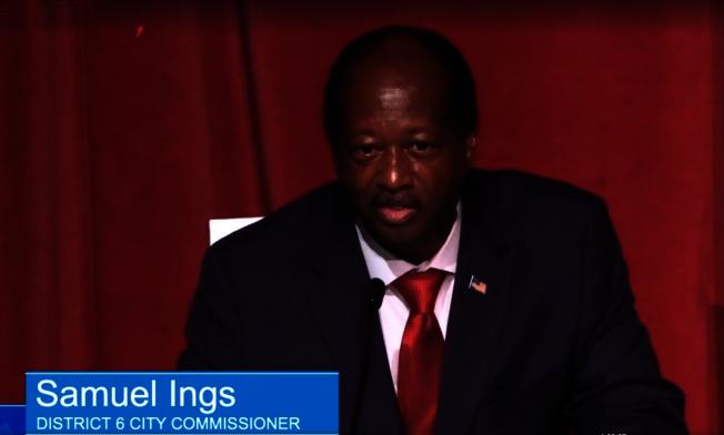 殷格斯有13年市議員經歷,在警界20多年後退休,他說,30多年的公眾服務經驗,為民服務已是他的本能。(截自視頻)