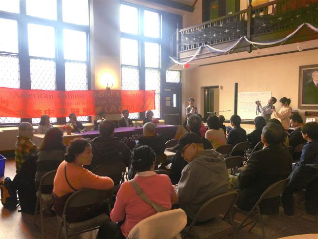 北美中華醫學會與華夏文化協會舉辦摩頓社區健康講座。(記者劉晨懿之╱攝影)