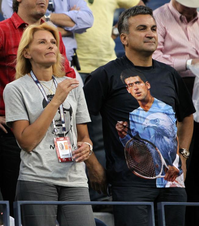 喬科維奇的父母親是他最忠實的支持者。(Getty Images)