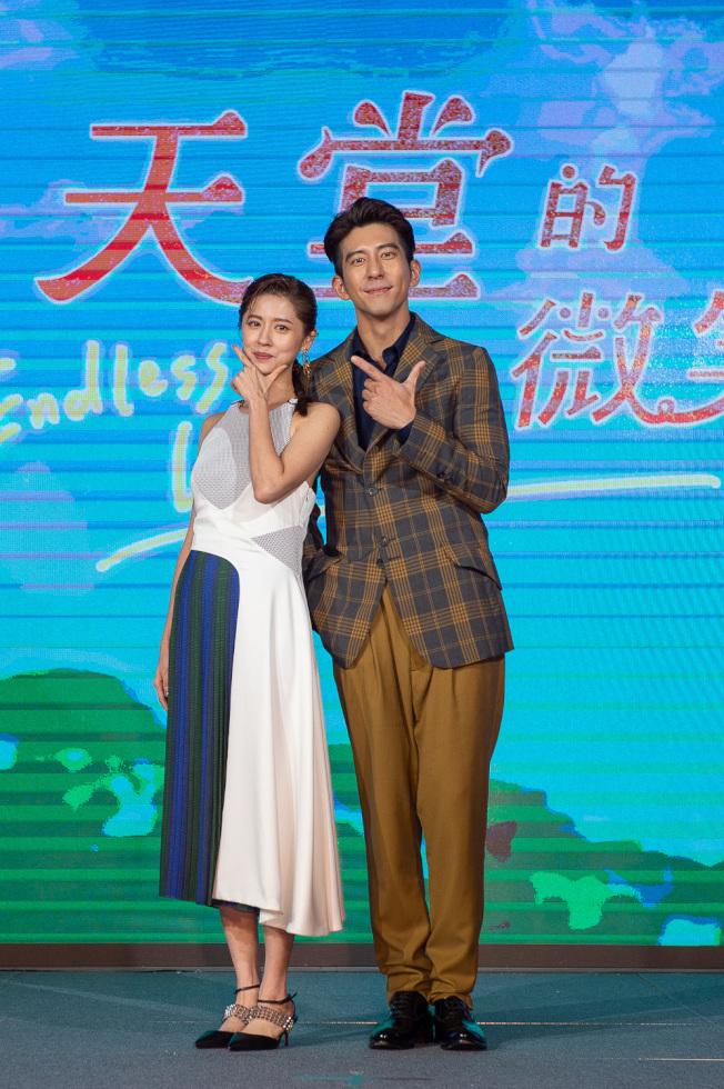 修杰楷(右)、林予晞出席「天堂的微笑」首映。(圖:TVBS提供)