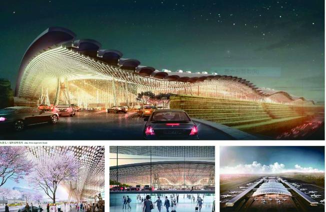 桃機公司提報桃園機場第三航廈修改設計報告,取消原先計畫中的波浪屋頂等亮點。(取材自桃機官網)