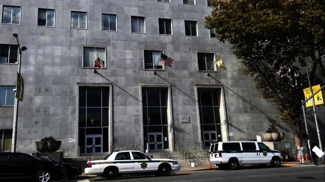 位於Bryant街850號的縣監獄因抗地震能力不足而讓身處其中的300多名囚犯面臨危險。(記者黃少華/攝影)