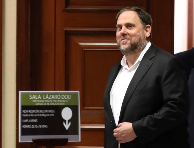 加泰隆尼亞獨派領袖璜克拉斯。(歐新社)