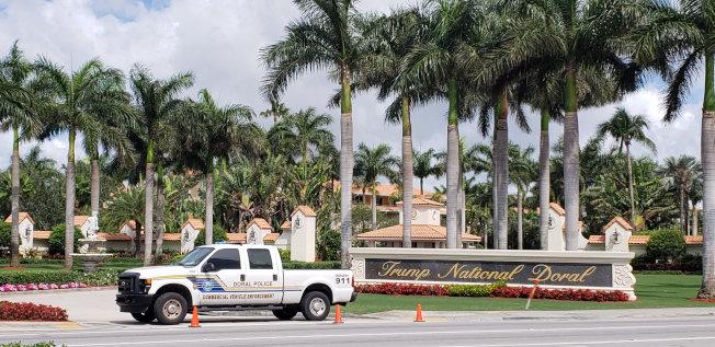 川普全國都瑞爾邁阿密高爾夫俱樂部。(路透)