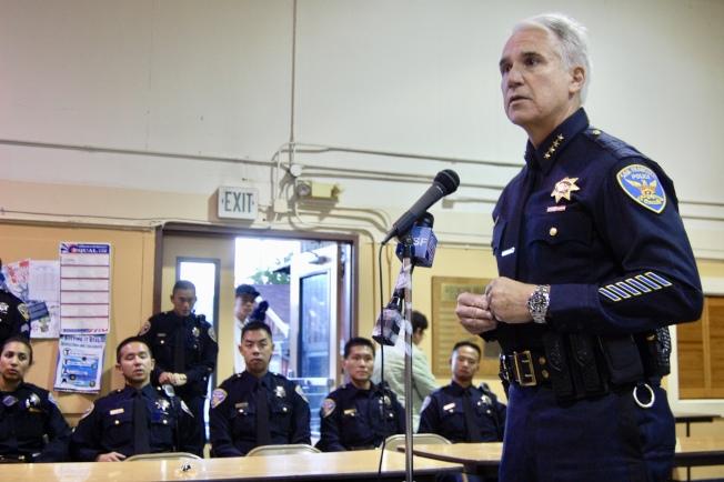 賈斯康2009年由洛杉磯來到舊金山擔任警察局長。(本報檔案照片,記者李秀蘭攝影)