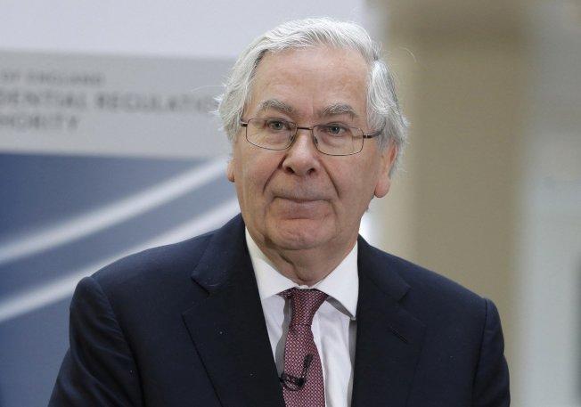 英國央行前總裁金恩認為,脫歐不會對歐洲或全球經濟造成巨大衝擊。 路透