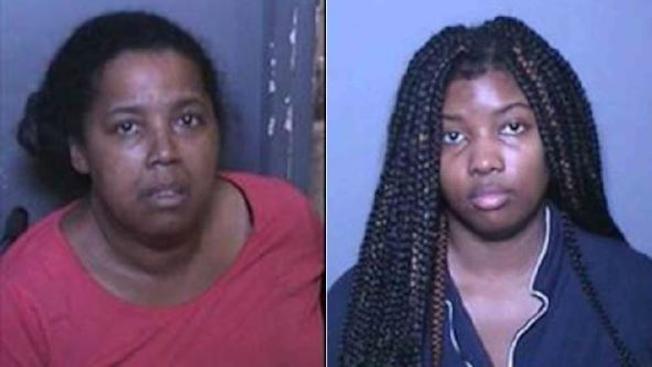 米肯斯(左)、布蘭妮(右)裝病詐騙每月285小時的看護工資。(橙縣地檢處)