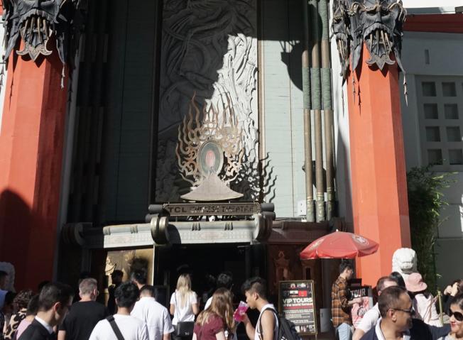 動漫電影節(Animation is Film Festival)20日在洛杉磯中國戲劇(Chinese Theatre)落幕。圖為洛杉磯中國戲劇(記者陳開/攝影)