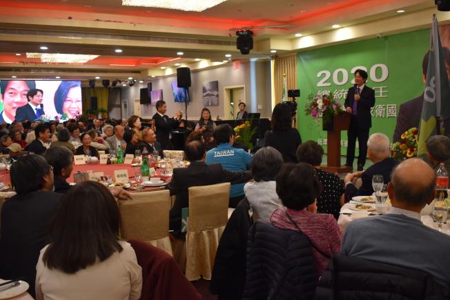 賴清德說,相信中國對台灣施加的壓力會愈來愈大,此時就需要海內外所有人團結。(記者顏嘉瑩/攝影)
