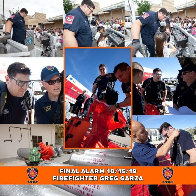 聖安東尼奧市消防局在臉書上悼念消防員格雷格加爾薩。(消防局臉書)