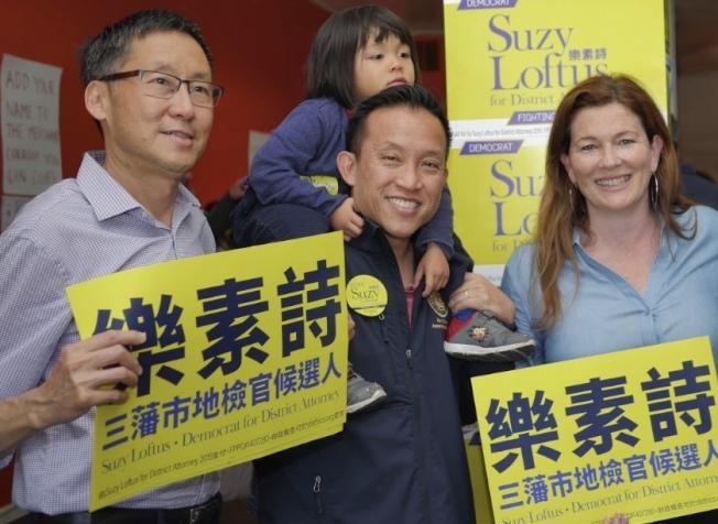 市議員馬兆明(左)背書地檢長候選人樂素詩(右),但將觀察樂素詩未來兩周表現。(樂素詩競選網站)