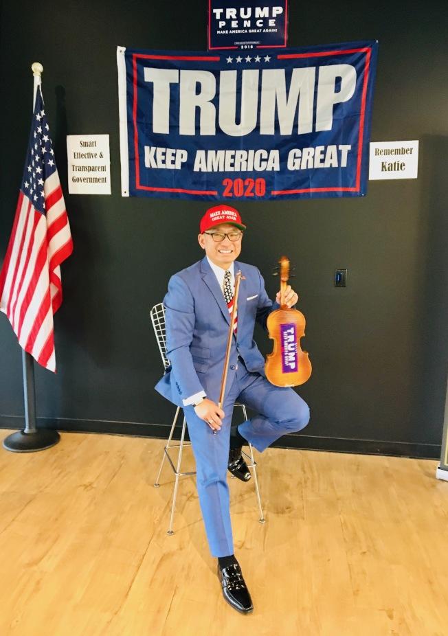 正職為保險經紀人的共和黨加州副主席郭宗政說,自己支持共和黨的理念,但愈來愈不敢公開在外面戴上「紅帽子」」。(郭宗政提供)
