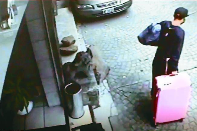 陳同佳來台殺害女友後,將遺體裝入粉紅色行李箱棄屍。(本報系檔案照)