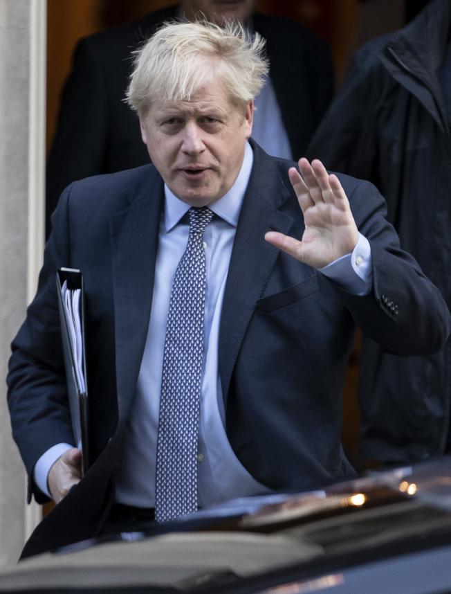 英國首相強生。(新華社)
